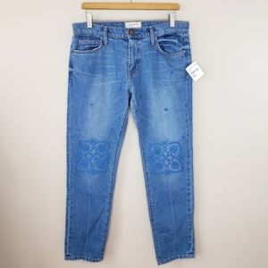 NWT Current/Elliott | Embroidered Ankle Jeans